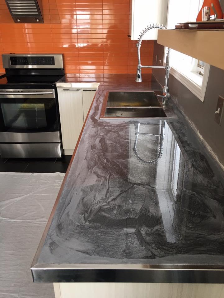 comptoir d 39 poxy m tallis archives epoxy qu bec. Black Bedroom Furniture Sets. Home Design Ideas